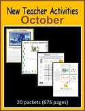 New Teacher Activities - October (First Year Teacher)