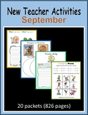 New Teacher Activities - September (First Year Teacher)