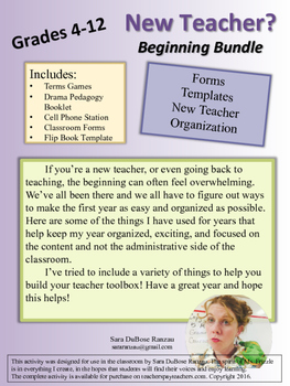 New Teacher Bundle! Games, Tips, and Forms