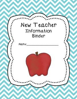 New Teacher 'Chevron' Binder Covers