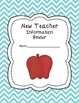 New Teacher 'Chevron' Binder Covers