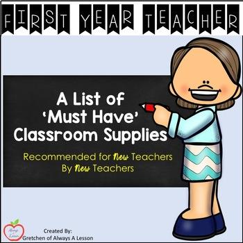 New Teacher Classroom Supply List