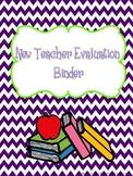 New Teacher Evaluation Binder