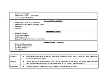 New Teacher Evaluation Form