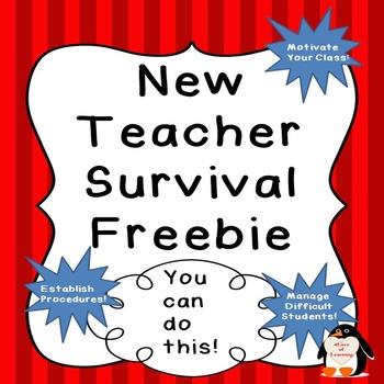 New Teacher Tips First Year Teacher Survival Manual Freebie