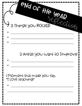 New Teacher Reflection Sheet