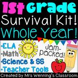 First Grade Teacher Survival Kit! WHOLE YEAR!!!