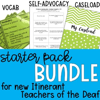 New Teacher of the Deaf Starter Pack BUNDLE