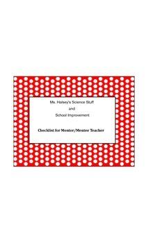 New Teachers Mentor/Mentee Checklist