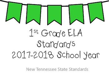 New Tennessee ELA Standards for 1st Grade