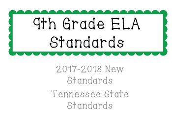 New Tennessee ELA Standards for 9th Grade