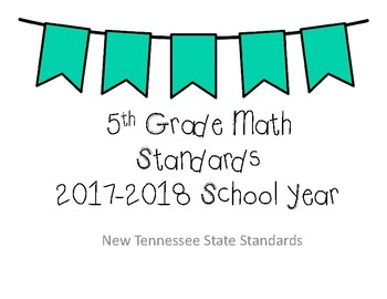 New Tennessee Math Standards for 5th Grade