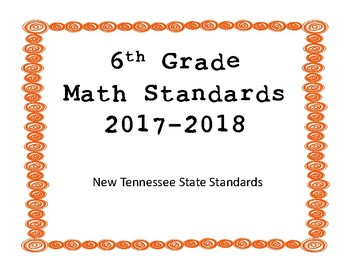 New Tennessee Math Standards for 6th Grade