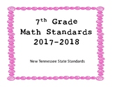 New Tennessee Math Standards for 7th Grade