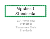 New Tennessee Math Standards for Algebra I