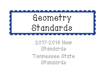 New Tennessee Math Standards for Geometry