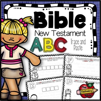 New Testament Alphabet Trace and Paste Notebook