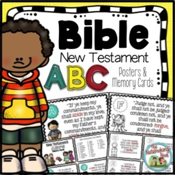 New Testament Alphabet Wall Posters and Memory Cards