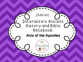 New Testament Add-On Interactive Notebook: Acts of the Apostles