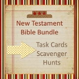 New Testament Bible Activity Bundle - Task Cards and Scave
