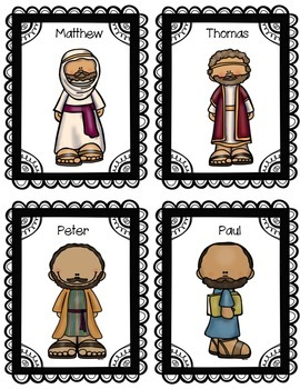 New Testament Bible Verse Posters and Character Cards