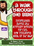New Testament Bible Verses, Background Info, and Student Response Sheets (KJV)