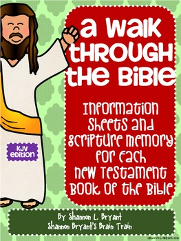 New Testament Bible Verses, Background Info, and Student R