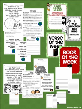 New Testament Bible Verses, Background Info, and Student Response Sheets (NIV)