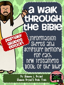 New Testament Bible Verses and Background Info (Primary Grades School License)