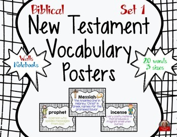 New Testament Bible Vocabulary Posters Set 1