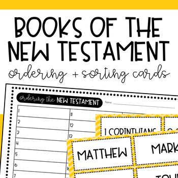 New Testament Books Sorting Cards