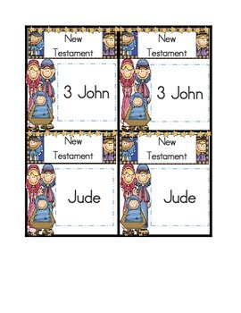New Testament -- Books of the Bible Concentration Game