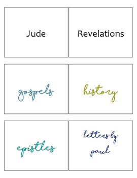 New Testament Books of the Bible FLASHCARDS (with Sort Headers) - Happy EASTER!