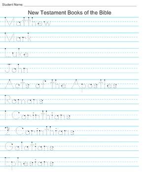 New Testament Books of the Bible Handwriting