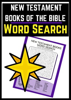 New Testament Books of the Bible Word Search - FREE!