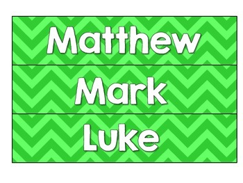 New Testament Labels- Green Chevron