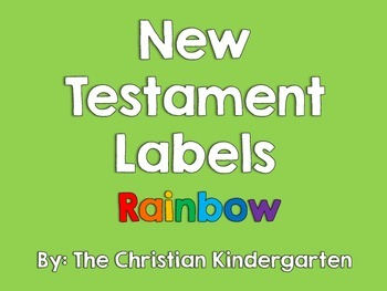 New Testament Labels-Rainbow