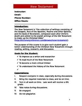 New Testament Syllabus (Doc)