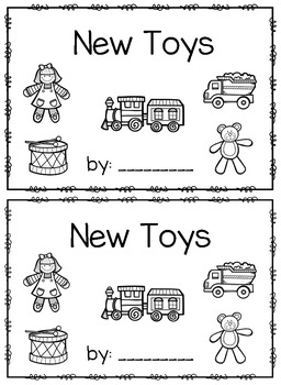 New Toys~ emergent reader