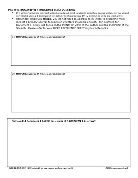 New US History Regents Part II Short Essay Document Set Indian Removal Act