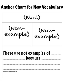 Back to School Vocabulary Anchor Chart Freebie!