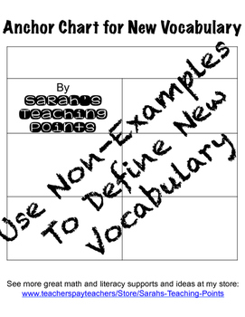 New Vocabulary Anchor Chart Freebie!