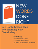 New Vocabulary Done Right: How to Present, Teach, and Prac