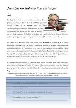 New Wave Intro: Jean Luc Godard