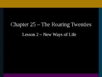 The Roaring Twenties - New Ways of Life PowerPoint