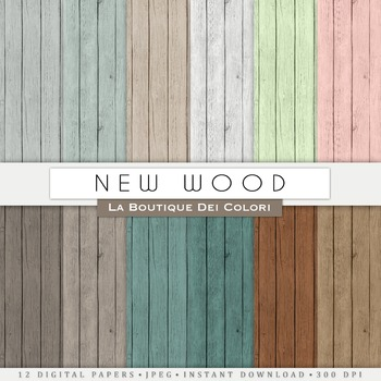 New Wood Textured Digital Paper, scrapbook backgrounds