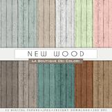 New Wood Textured Digital Paper, scrapbook backgrounds