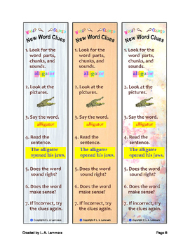 New Word Clues Bookmark