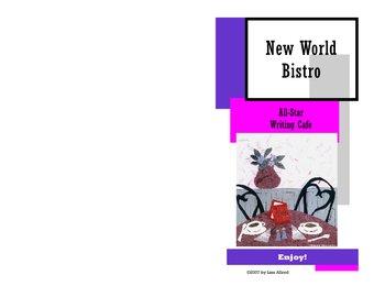 New World Bistro Writing Menu