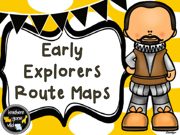 New World Early Explorers Route Maps